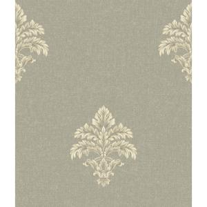 Baroque Medallion Fleur De Lis Wallpaper BQ3903