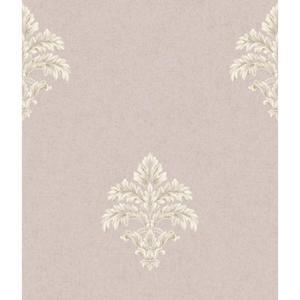 Baroque Medallion Fleur De Lis Wallpaper BQ3904