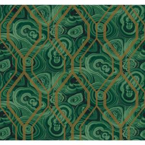 Malachite Trellis Wallpaper RK4498