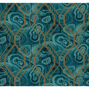 Malachite Trellis Wallpaper RK4499