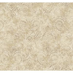 Distressed Damask Wallpaper Y6190401