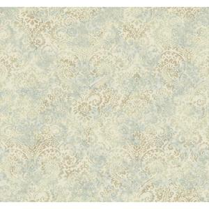 Distressed Damask Wallpaper Y6190402