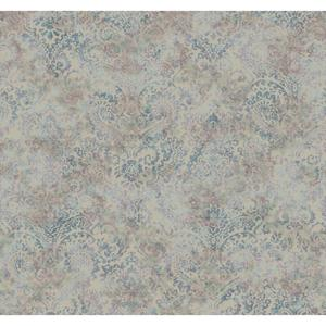 Distressed Damask Wallpaper Y6190403