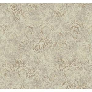 Distressed Damask Wallpaper Y6190404