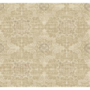 Linen Medallion Wallpaper Y6190702