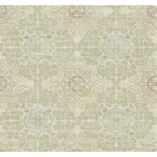 Linen Medallion Wallpaper Y6190704