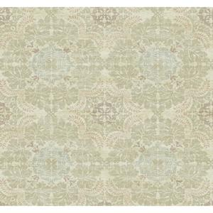 Linen Medallion Wallpaper Y6190704