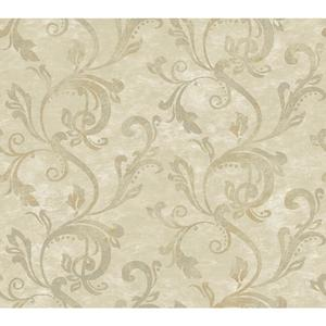 Charlotte Watercolor Scroll Wallpaper TB4283