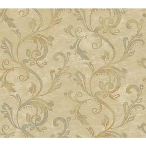 Charlotte Watercolor Scroll Wallpaper TB4284