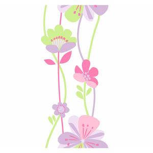 Large Floral Stripe Wallpaper KS2233