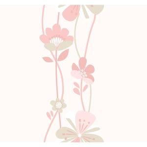 Large Floral Stripe Wallpaper KS2234