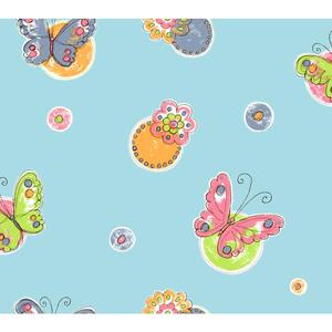 Butterfly Circle Wallpaper KS2256
