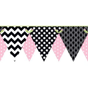 Geometric Pennant Border KS2288BD