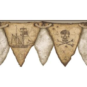 Pirates Pennant Border KS2330BD
