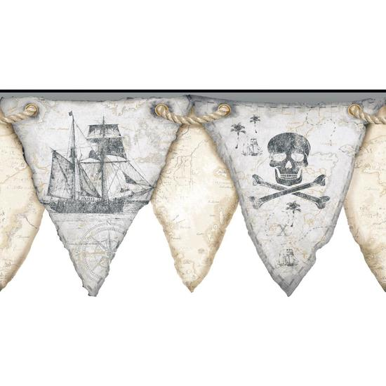 Pirates Pennant Border KS2332BD