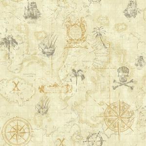 Pirate Map Wallpaper KS2337