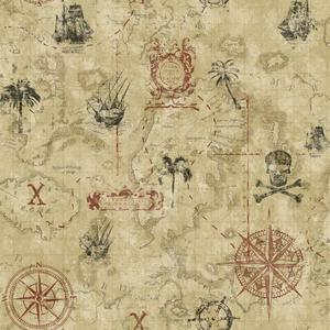 Pirate Map Wallpaper KS2338