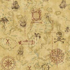 Pirate Map Wallpaper KS2340