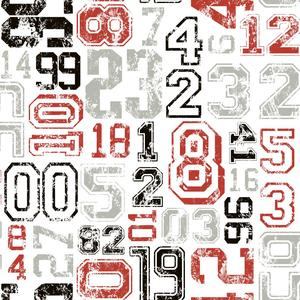 Varsity Number Wallpaper KS2362
