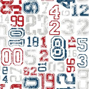 Varsity Number Wallpaper KS2363