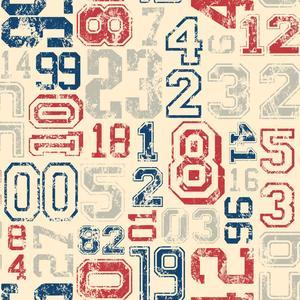 Varsity Number Wallpaper KS2364