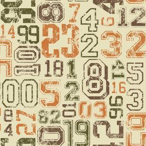 Varsity Number Wallpaper KS2365