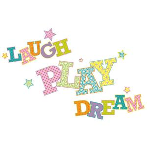 Laugh Play Dream Giant Mural RMK2279GM