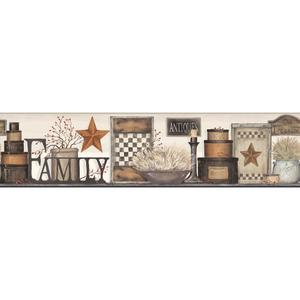 Family Shelf Border Wallpaper AC4340BD