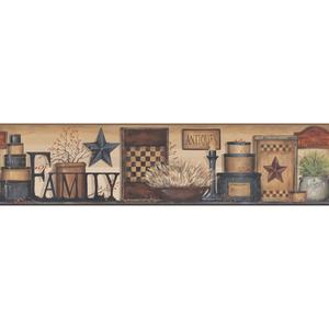 Family Shelf Border Wallpaper AC4341BD