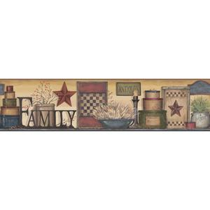 Family Shelf Border Wallpaper AC4342BD