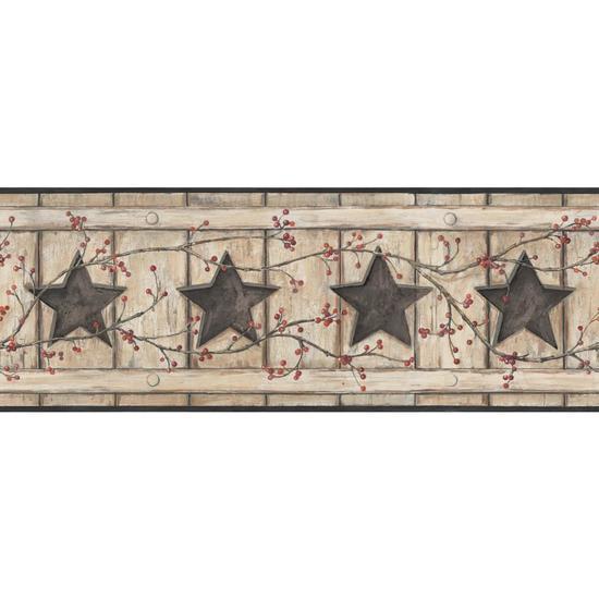Country Cutout Star Wallpaper AC4412BD