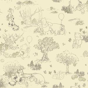 Pooh & Friends Toile Wallpaper DK5842