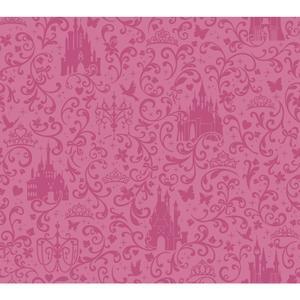 Small Scroll W/Castles Wallpaper DS7612