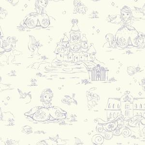 Sofia Toile Wallpaper DS7626