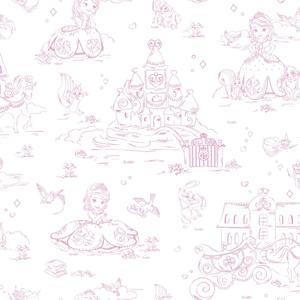 Sofia Toile Wallpaper DS7627