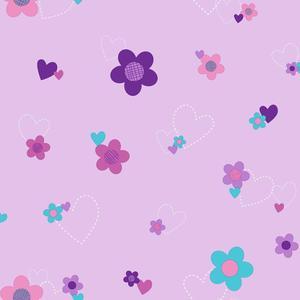 Flower & Hearts Wallpaper DS7680