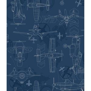 Blueprint Planes Wallpaper DS7738