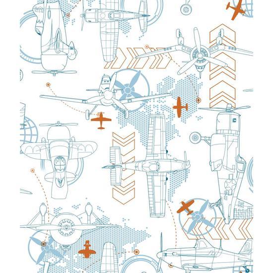 Blueprint Planes Wallpaper DS7743