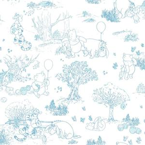 Pooh & Friends Toile Wallpaper DS7868