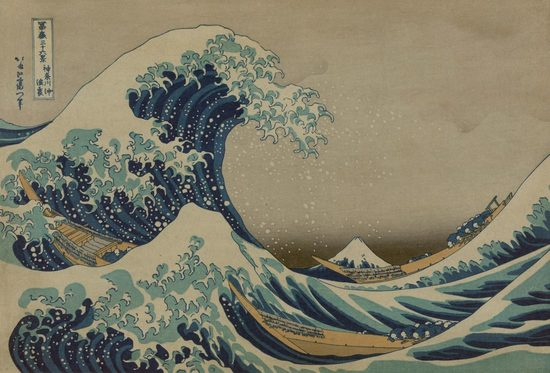 The Great Wave Off Shore of Kanagawa, Hokusai Katsushika