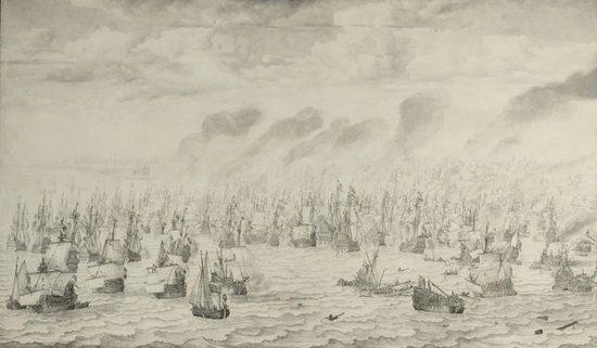 The Battle of Terheide, Willem van de Velde (I)