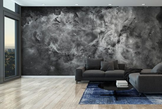 The Carina Nebula (Black & White)