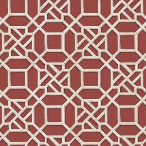 Adlington Maroon Geometric Wallpaper