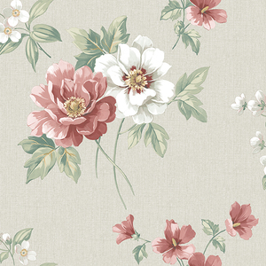 Keighley Red Floral Wallpaper