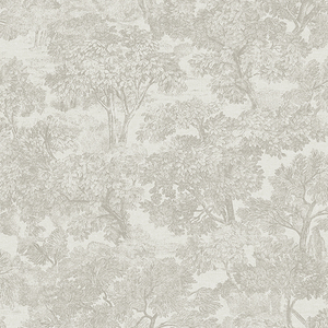 Blyth Grey Toile Wallpaper