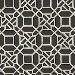 Adlington Black Geometric Wallpaper