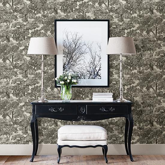 Blyth Black Toile Wallpaper