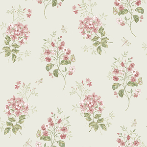 Beverly Pink Floral Wallpaper
