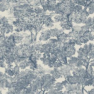 Blyth Blue Toile Wallpaper
