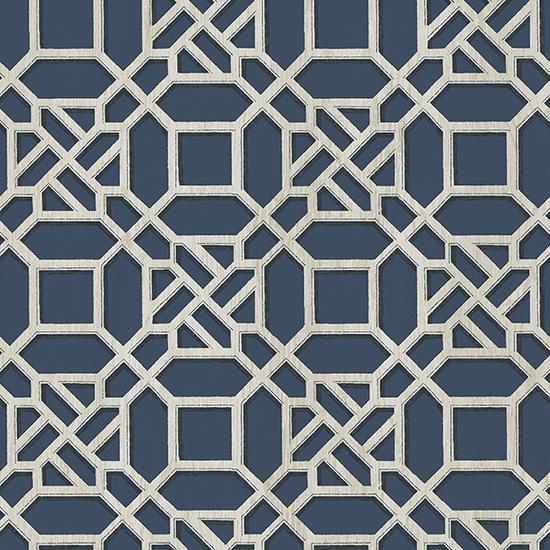 Adlington Blue Geometric Wallpaper